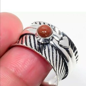 Jewelry - RING SZ 9 Meditation Spinning SUNSTONE .925 SILVER
